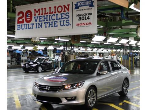 Honda米国生産2000万台、アコード1000万台を達成