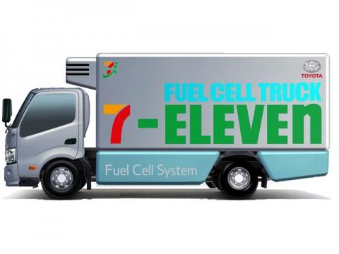 セブンイレブンとトヨタは、物流を含め燃料電池トラックなどの活用検討開始