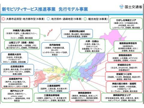 国交省、MaaSなど「新モビリティサービス推進事業」に全国19事業を選定