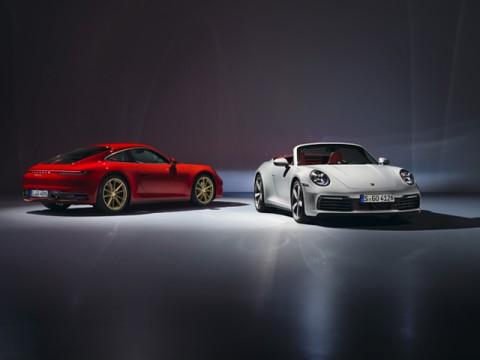Porsche、911のエントリーモデル新型「911カレラ」クーペとカブリオレ発表